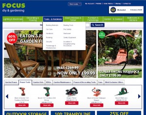 The new-look Focus DIY website