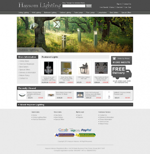 Haysom Lighting's new-look website