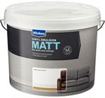 Wickes: 10L Vinyl Matt Emulsion Brilliant White